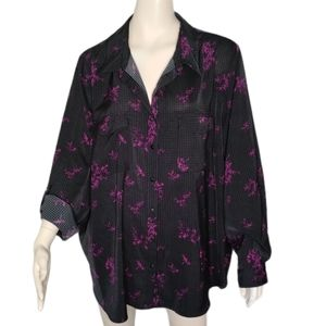 In Every Story Plus Size Floral Print Blouse Shirt